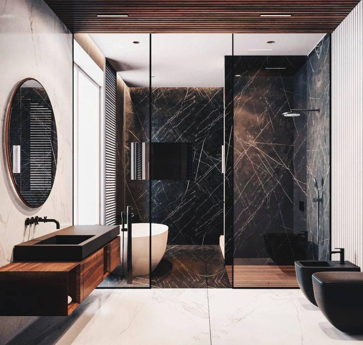 Großformatige Fliesen, Luxus Badezimmer, Moderne Bäder, Hausbau, Schöner  Wohnen, Italien, Einrichtung, Architektur, Deko