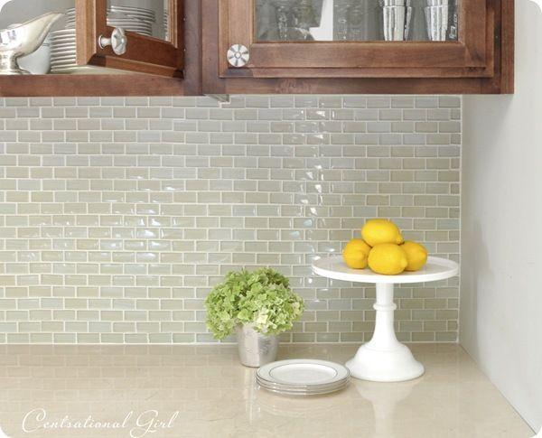 Kitchen Backsplash Light Green Gl Subway Tile Love