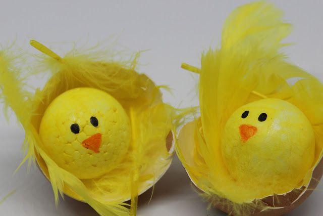 farbenmaedchen : Küken aus dem Ei (Einfaches OsterDIY)