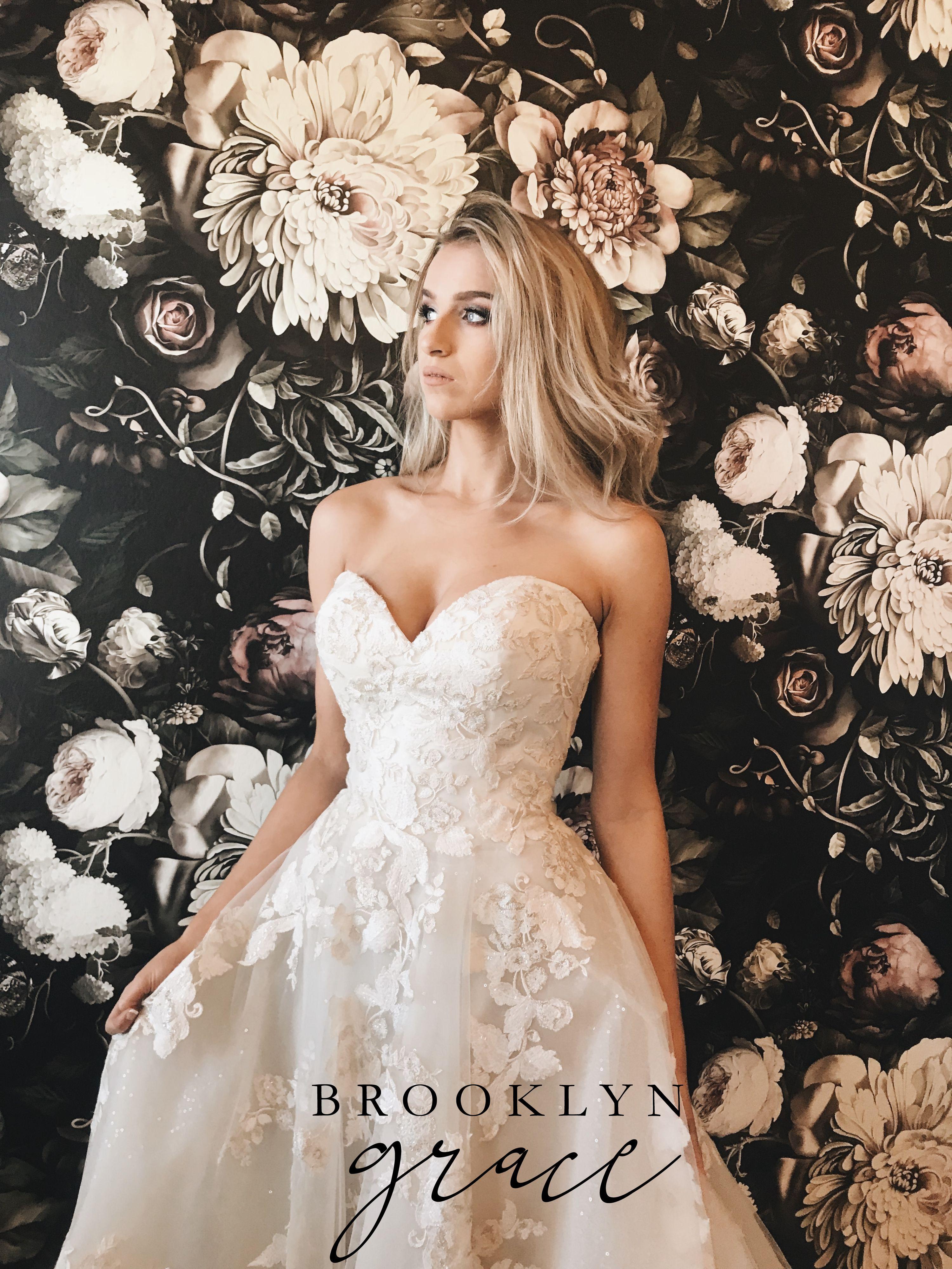 Brooklyn Grace Gown   Sparkly wedding dress, Wedding dresses ...