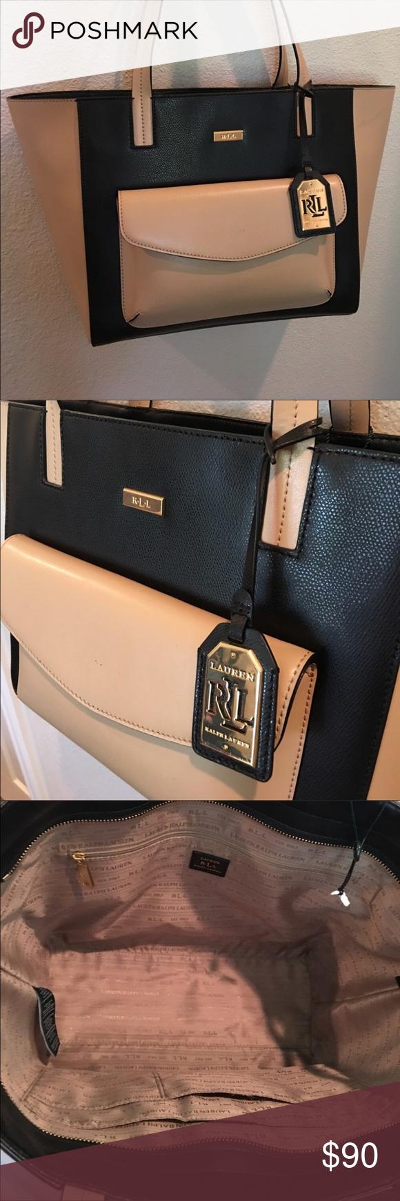 6a31660b06d Ralph Lauren RRL Handbag Tote Excellent Condition Ralph Lauren RRL blocked  black   beige handbag tote, Great condition. Used once.