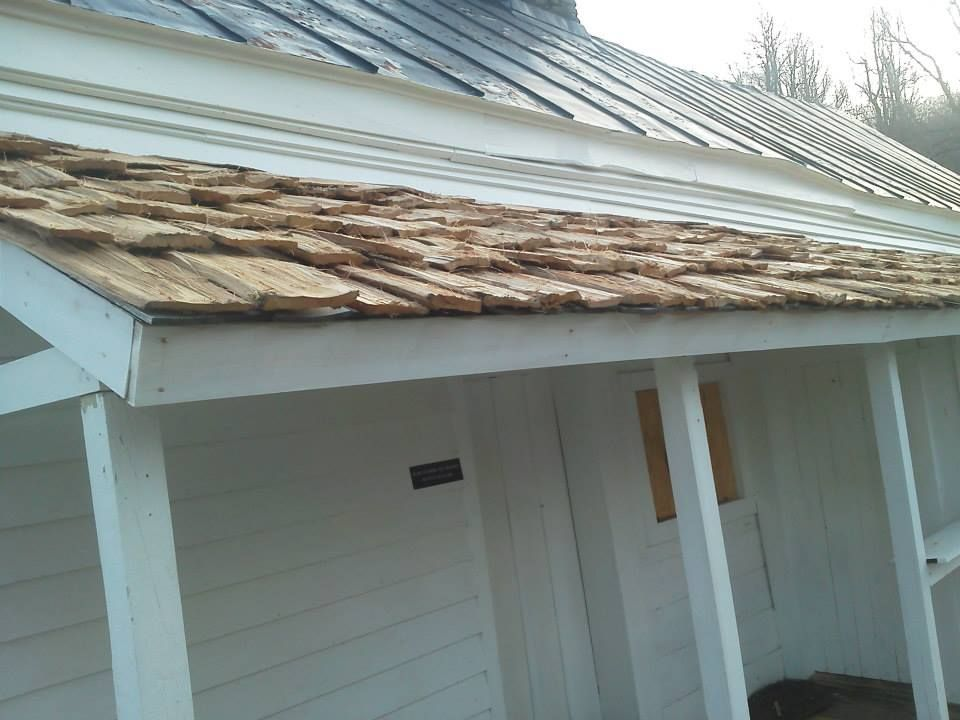 Hand-Froed White Oak Shingle Roof - thanks to all the FRIENDS donors and volunteers for making this happen! www.friendsbrp.org