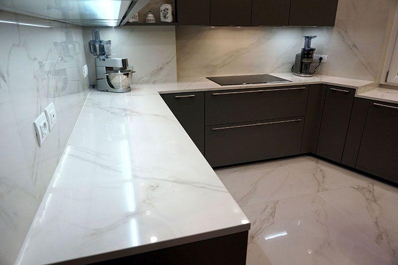 Stunning Marble Kitchen Idea Product Calacatta Polish Marble Look Tile Kitchen Marble Tile Trends