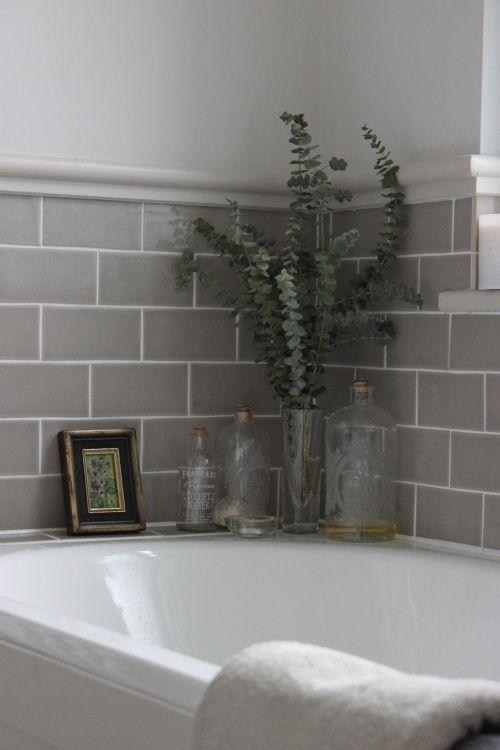 Carrelage mural gris salle de bain Idées de carrelage mural pour