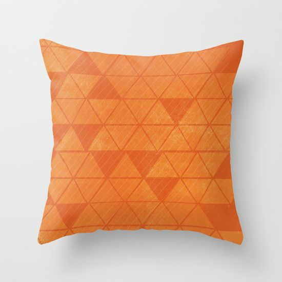Buy ORANGE TRIANGLES  by Allyson Johnson as a high quality Throw Pillow. Worldwide shipping available at Society6.com. Just one of millions of products…