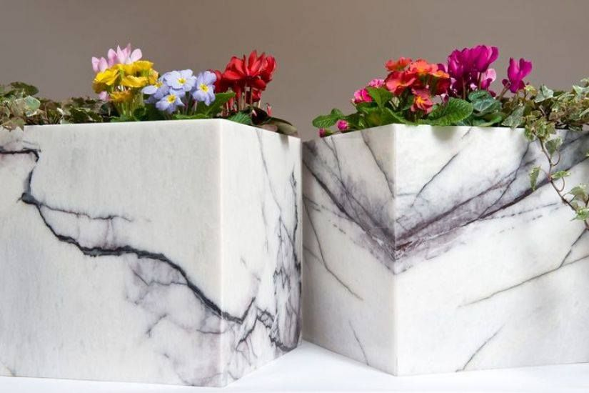 Pin By Elco Stone On Marble Planters Pots Boxes Planter Pots Planters Decor