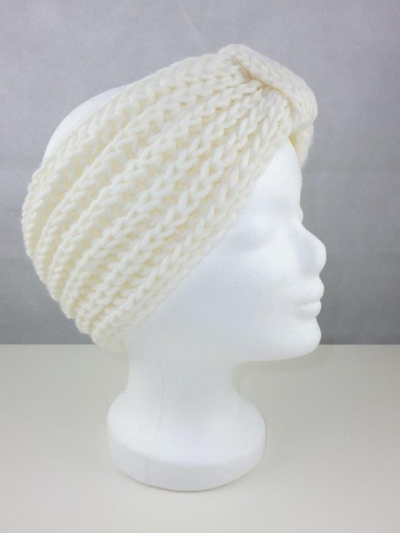 Stirnband Haarband Ohrenwärmer creme ecru off white Grobstrick Made ...