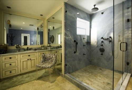 Seamless shower walls Bathroom The Idea Of Seamless Shower Walls ie No Grout Less Chance Of Leaks Off White Cabinet Floor Shower Stone Slab Granite Shower Matched As Bookends Angies List The Idea Of Seamless Shower Walls ie No Grout Less Chance Of