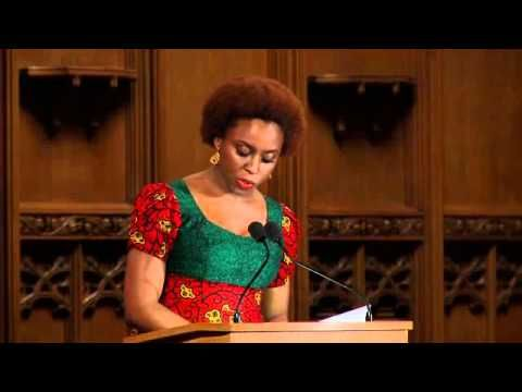 Chimamanda Adichie delivering the Commonwealth lecture. Brilliant. She really is my inspiration.