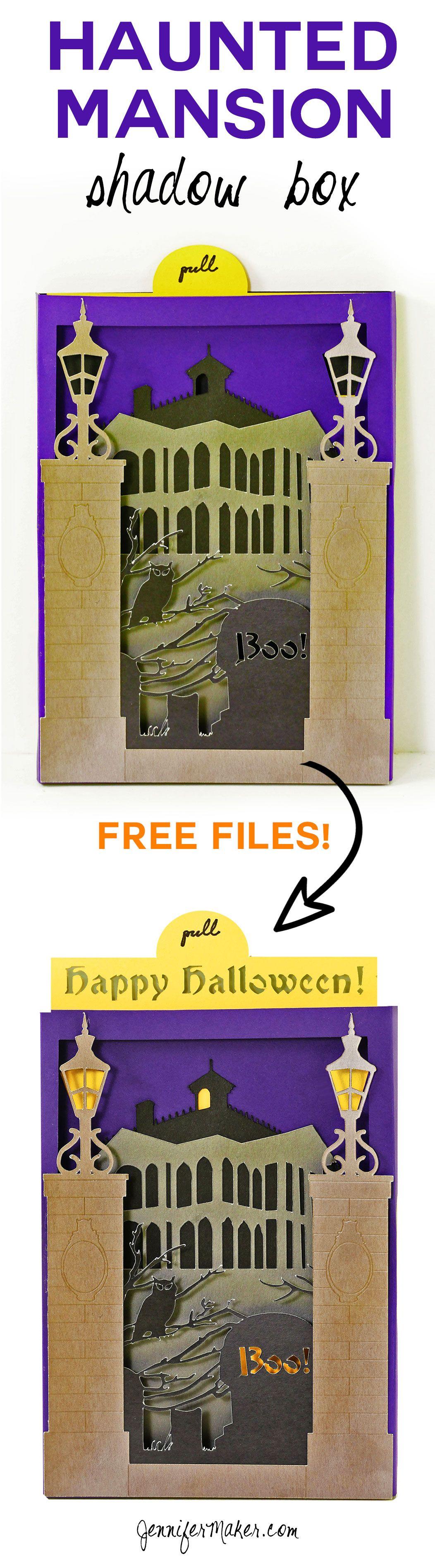 Halloween Card Haunted Mansion Shadow Box Halloween