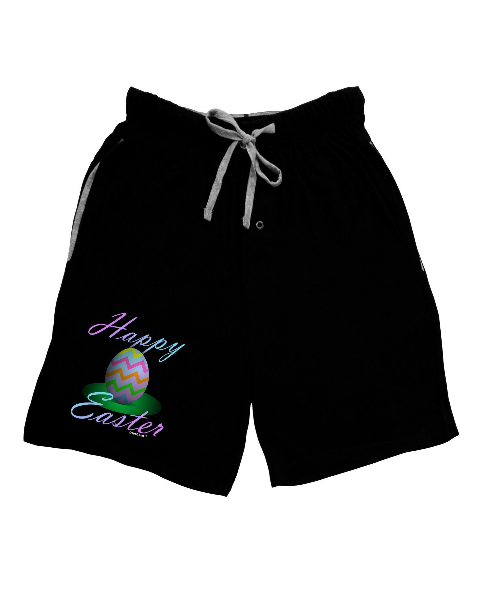 TooLoud One Happy Easter Egg Adult Lounge Shorts