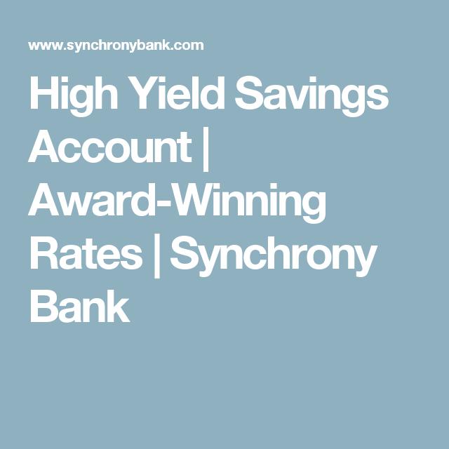 High Yield Savings Account | Award-Winning Rates | Synchrony