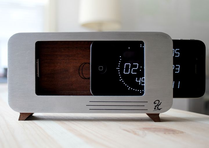 C Dock For The Apple Iphone Iphone Clock Iphone Dock Alarm Clock Iphone
