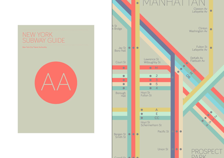 Subway Map Graphic Design.New York Subway Guide I L L U S T R A T I O N Graphic Design