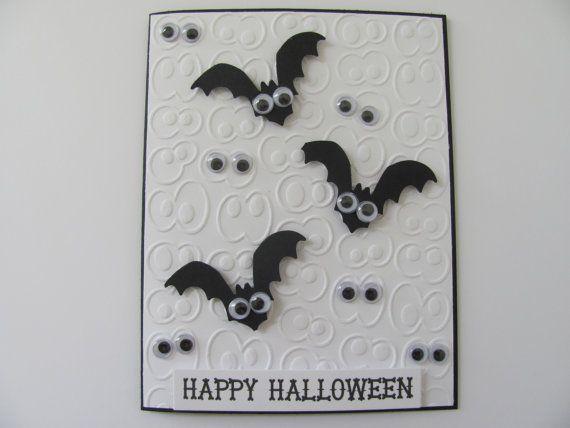 Halloween Card Halloween Bat Card Halloween by SassyScrapsCrafts