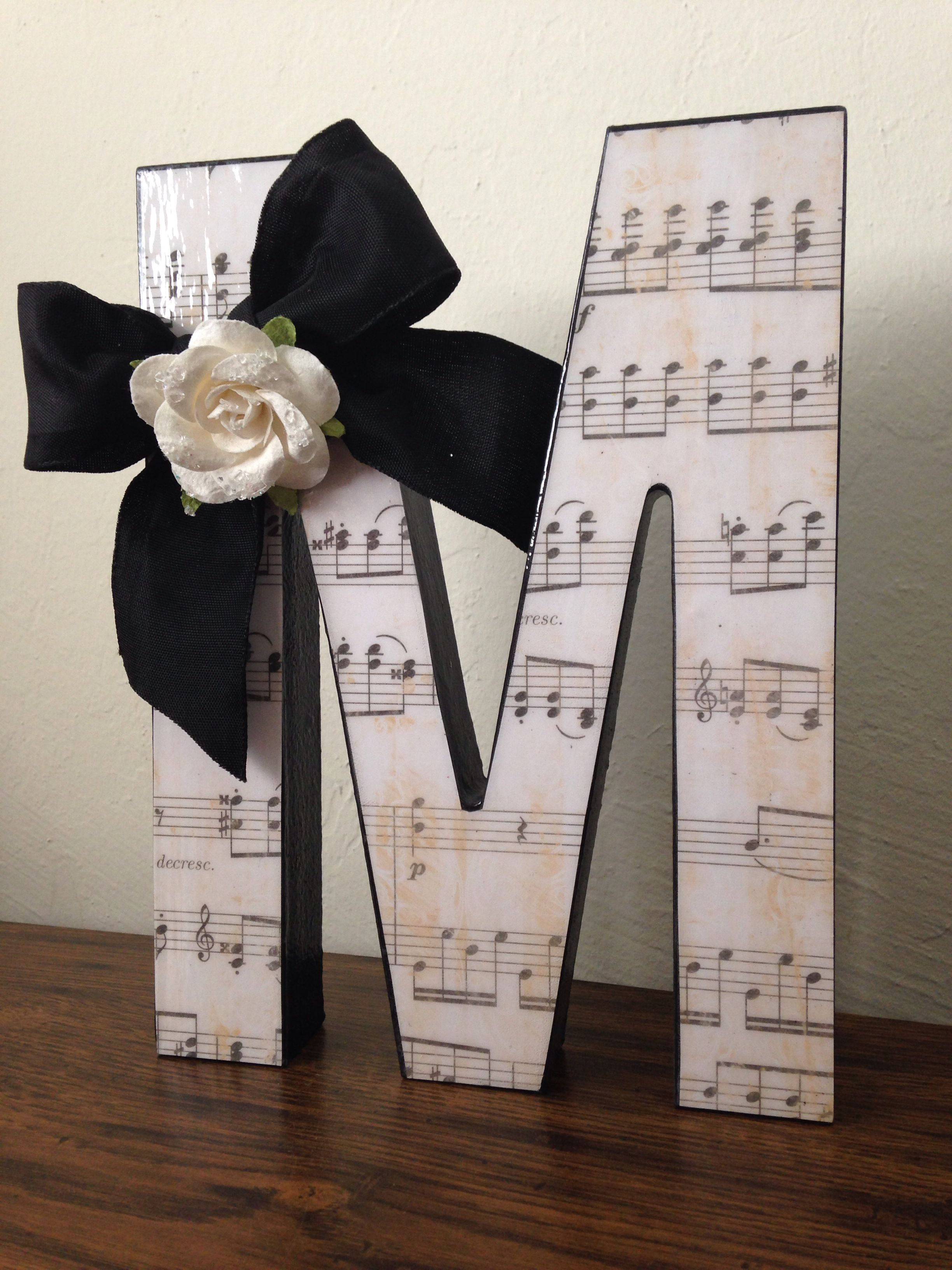 cute diy gift for music teacher   use their initial