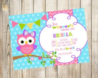 Owl First Birthday Invitation Cumpleaños De Buhos