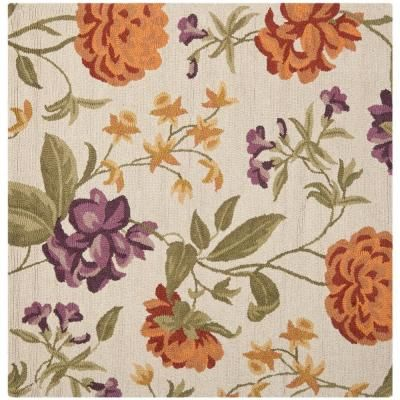 Safavieh Blossom Ivory / Multi 6 ft. x 6 ft. Square Area Rug - BLM788B-6SQ - The Home Depot