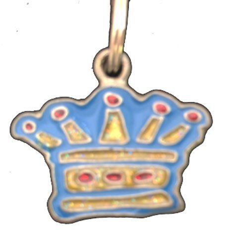 Just Be Paws Blue Enamel Crown Pet Charm -- Can't believe it's available, see it now : Cat accessories