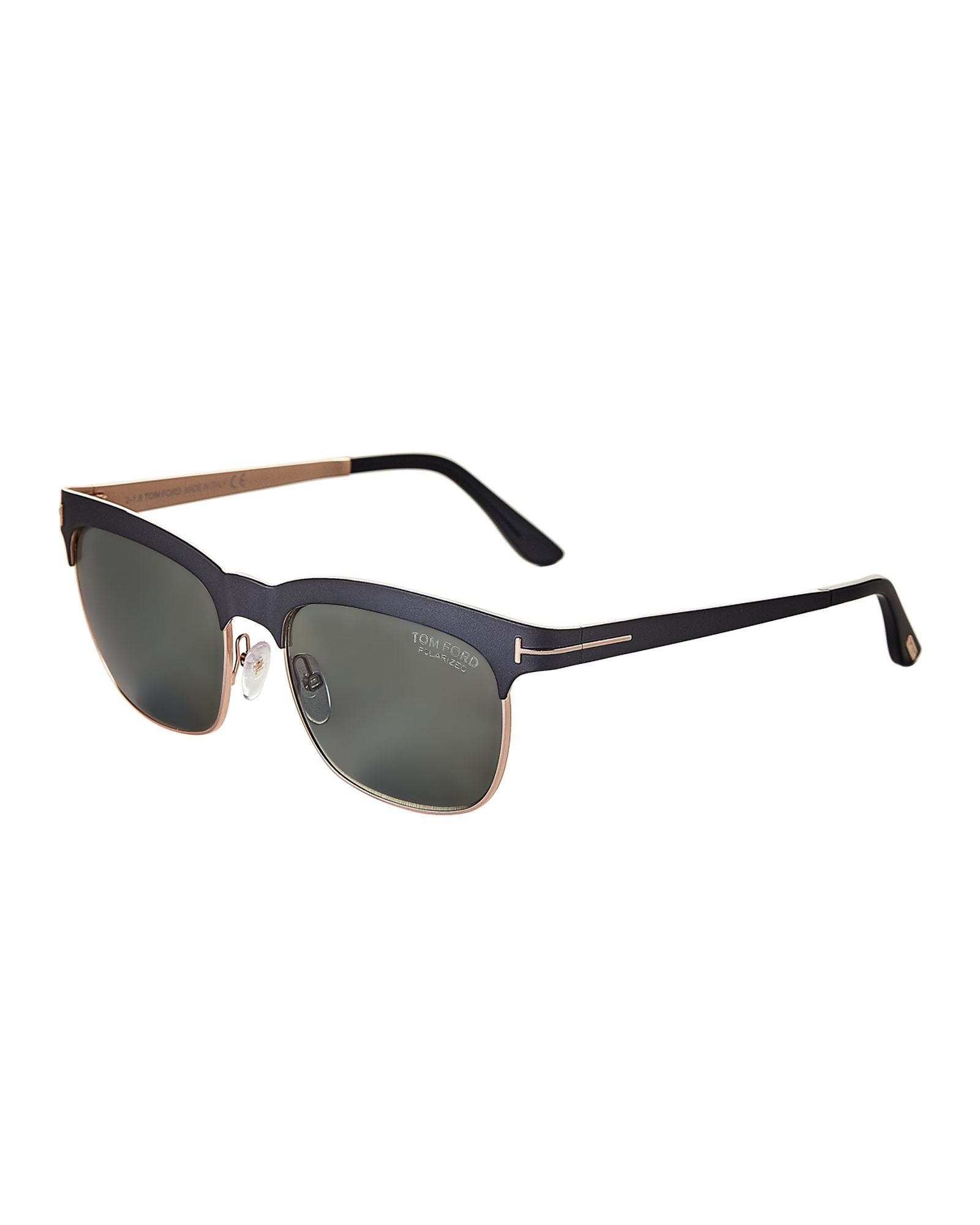 8b7df1997e40e Tom Ford Elena TF437 Matte Black Wayfarer Polarized Sunglasses