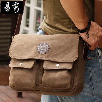Eshow Mens messenger bags for men canvas men shoulder bag