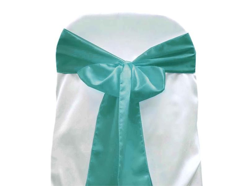 5 Pack 6 X106 Turquoise Satin Chair Sash With Images Turquoise Chair Chair Sashes Chair Sash