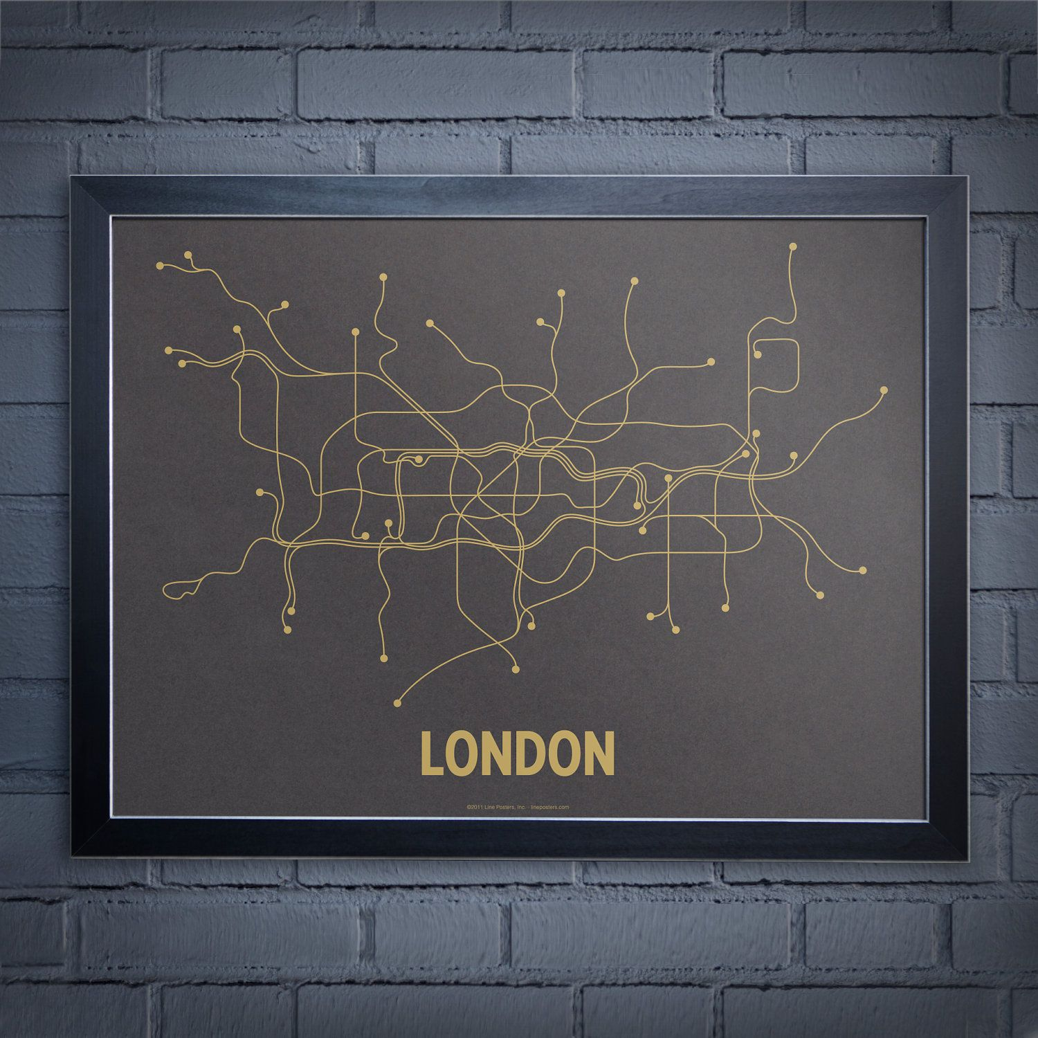 Line Posters London Screen Print Wall Art