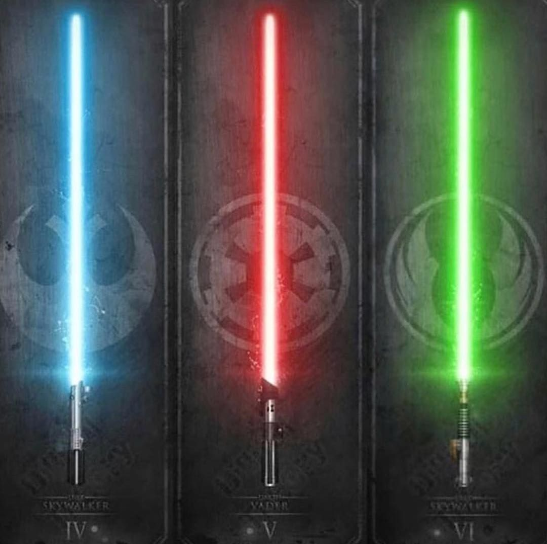Which Lightsaber Would You Wield Starwars Starwarsfanart Starwarsart Lightsaber Star Wars Light Saber Star Wars Wallpaper Star Wars Light
