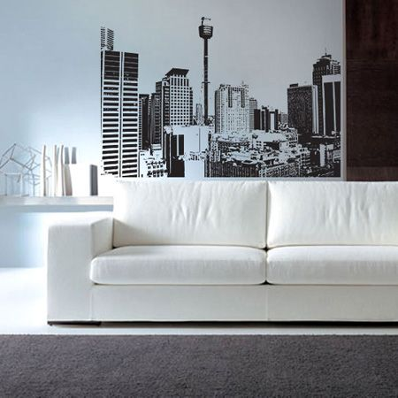 Full Colour SKYLINE MALAYSIAN CITY wall sticker decal transfer WSD555