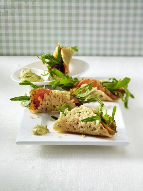 Knusprige Parmesanröllchen mit Lachs Rezept  | LECKER #tapasideer