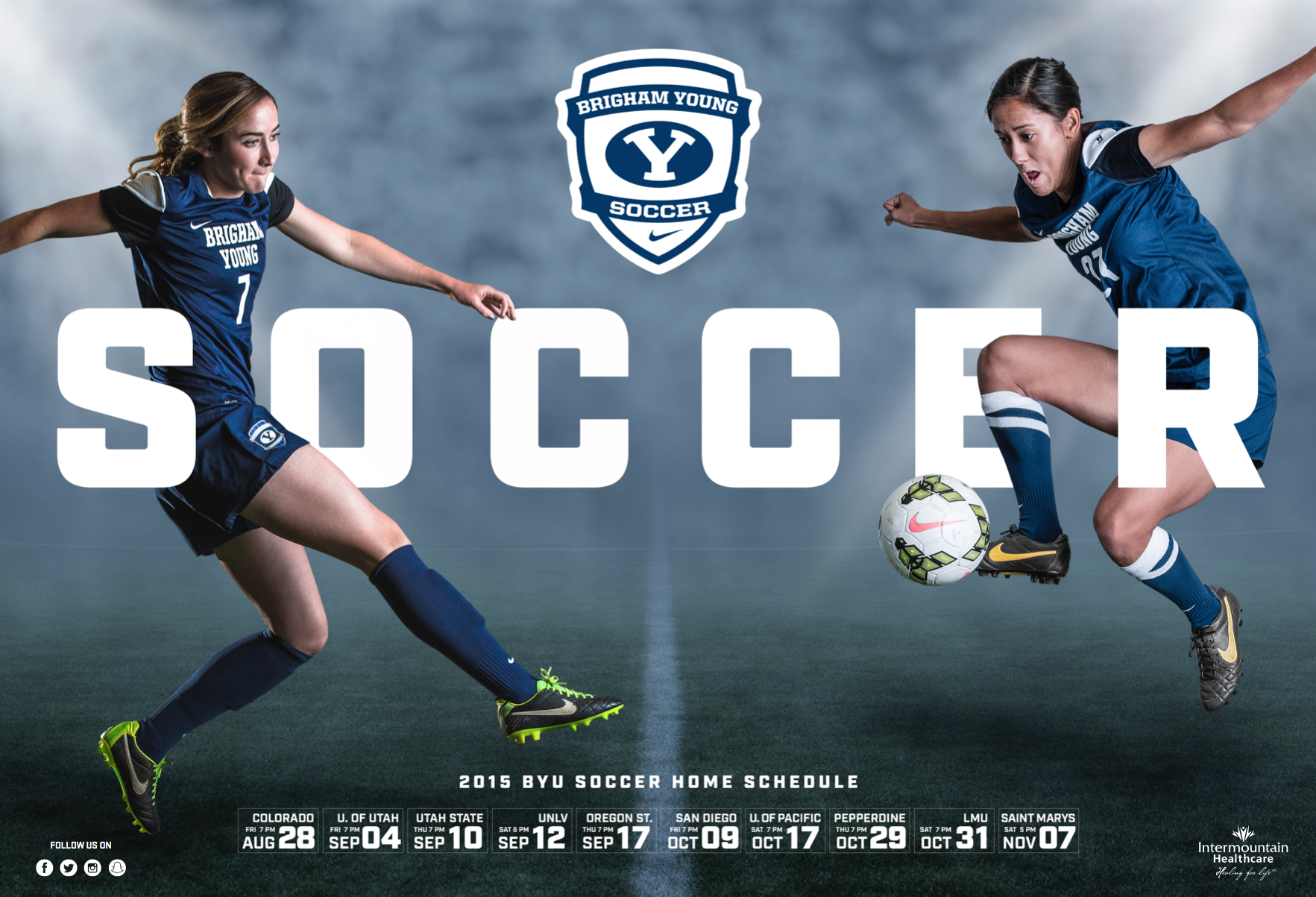 Byu Women S Soccer 2015 By Dave Broberg Womens Soccer Sports Design Soccer