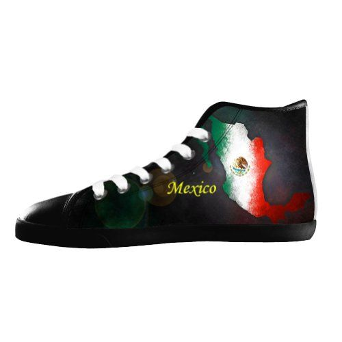 bfc3a209edd9f2 Vic Men s 2014 FIFA Brazil World Cup Mexico Flags Custom Black High Top  Fashion Sneakers Canvas