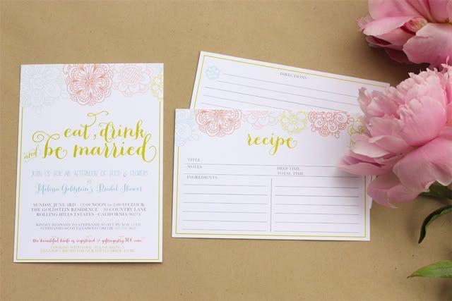 Invitations :: Food & Flowers Bridal Shower :: Le Partie Sugar