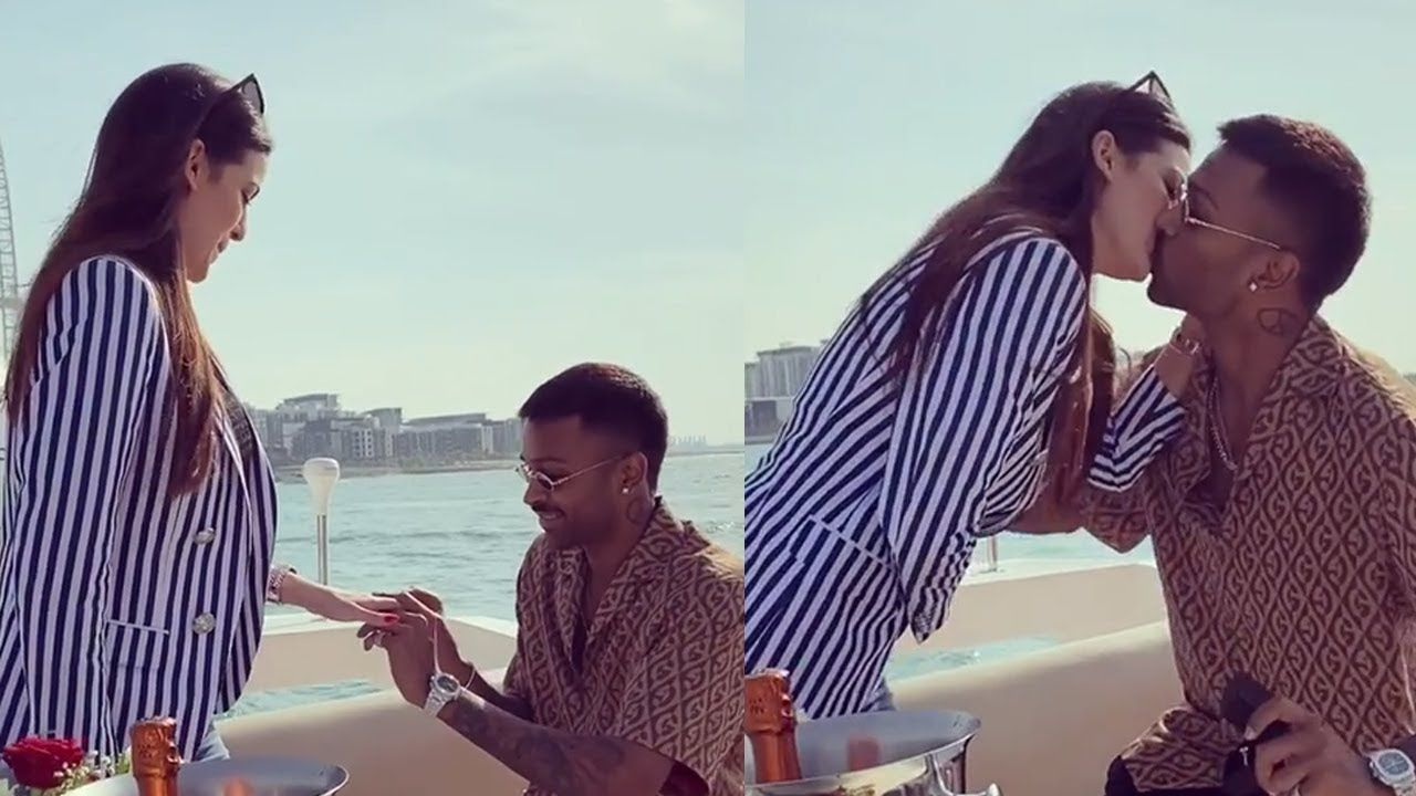 Hardik Pandya Announces Engagement With Gf Natasa Stankovic On New Year In 2020 Big Gifts Engagement New Year Celebration
