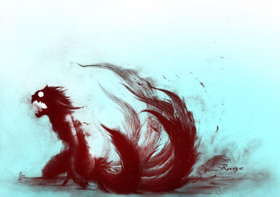 Kyuubi Naruto Rage By Mattbarley Deviantart Com On