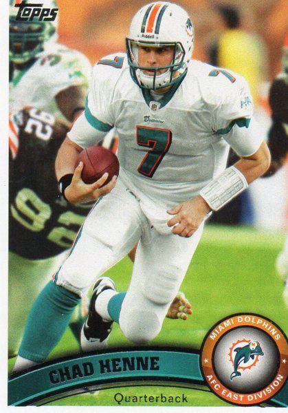 2011 Topps Trade Card #255 MIAMI DOLPHINS: Chad Henne