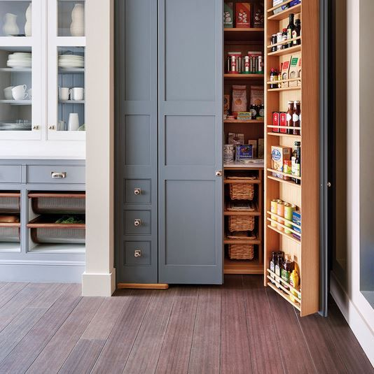 Shallow Open Pantry Shelves In Kitchen: Pin By Inge Smit On Home