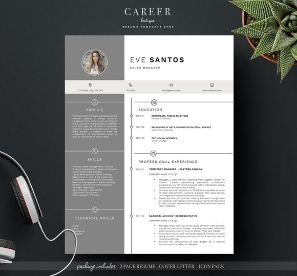 modern resume  u0026 coverletter template  creativew u2026