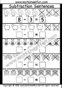subtraction sentences 1 worksheet printable worksheets. Black Bedroom Furniture Sets. Home Design Ideas