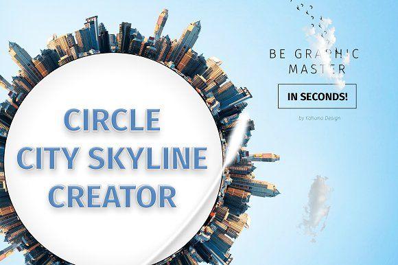Circle City Skyline Creator by Kahuna Design on @creativemarket