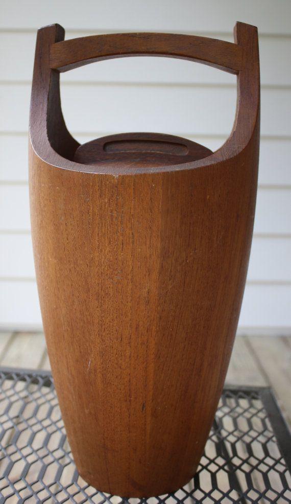 Dansk Mid Century Danish Teak Wood Ice Bucket with by gremlina, $75.00