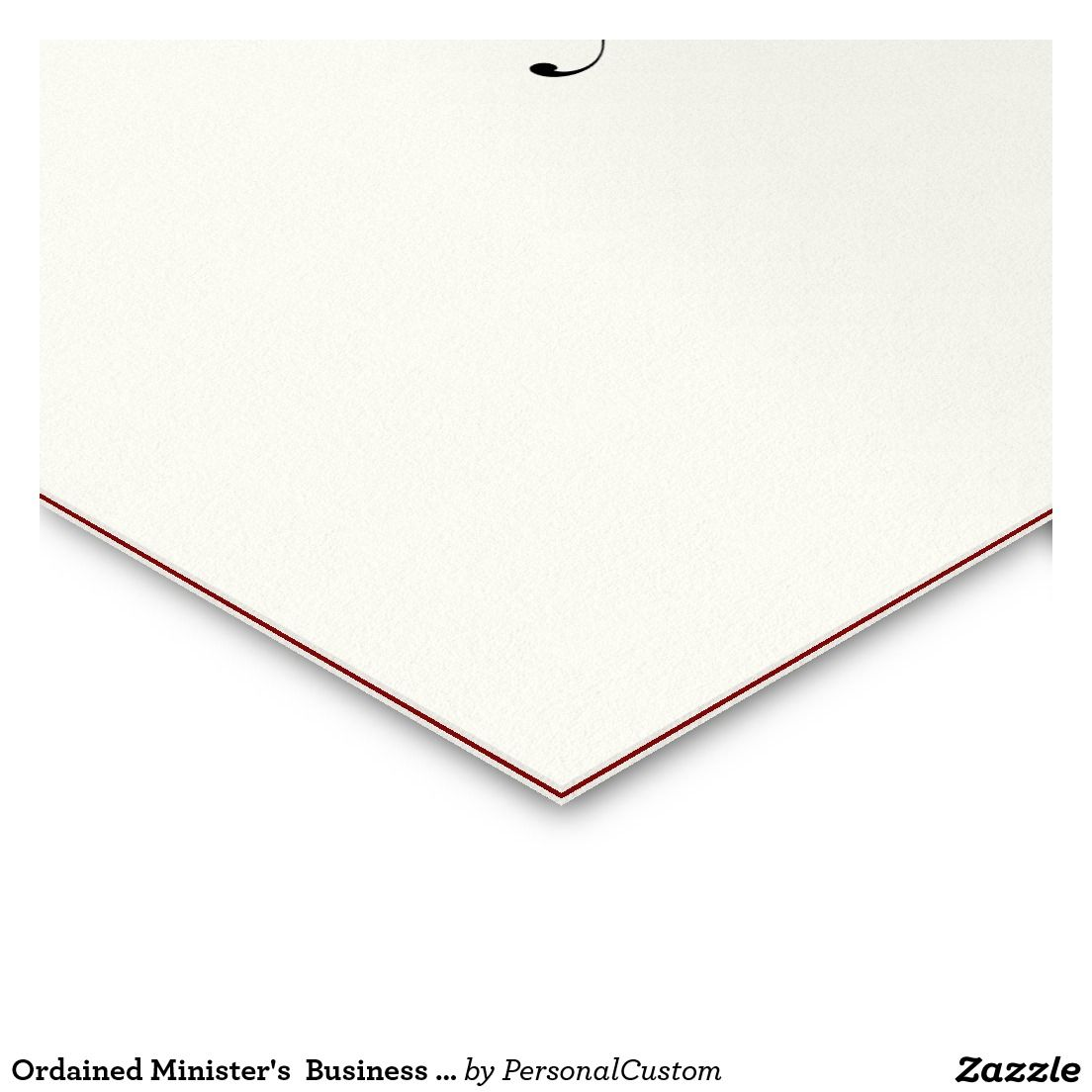 Ordained ministers business card business cards pinterest ordained ministers business card colourmoves