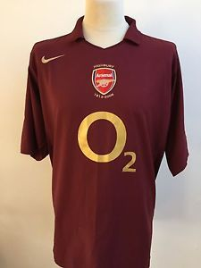 Arsenal Highbury Last Season 2005-2006 Football Shirt Redcurrant Nike Size  Large  eb987117238