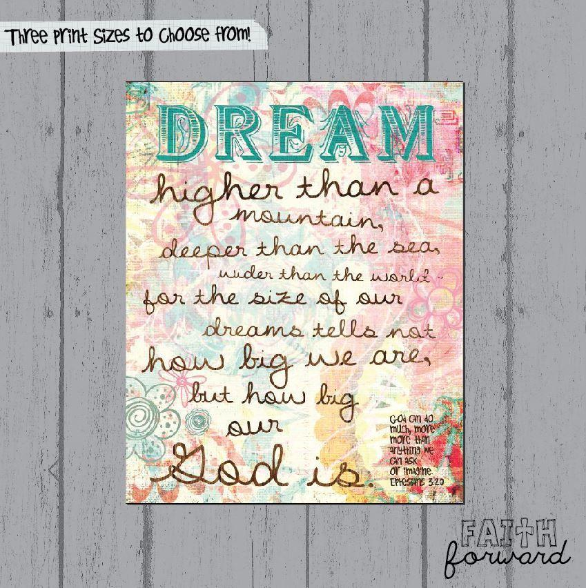 Ephesians 320 Dream Big Tween gifts, Tween girl gifts