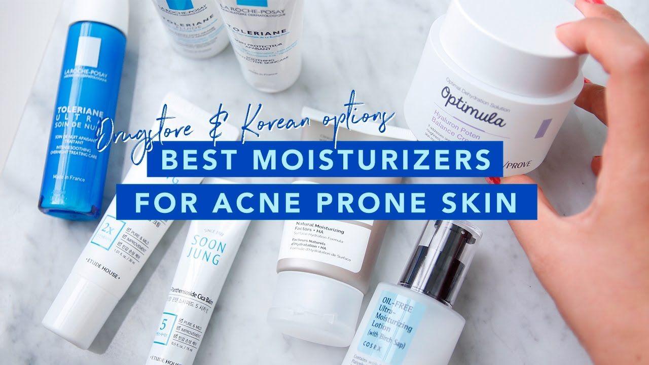 Best drugstrore korean moisturizers for acne prone skin