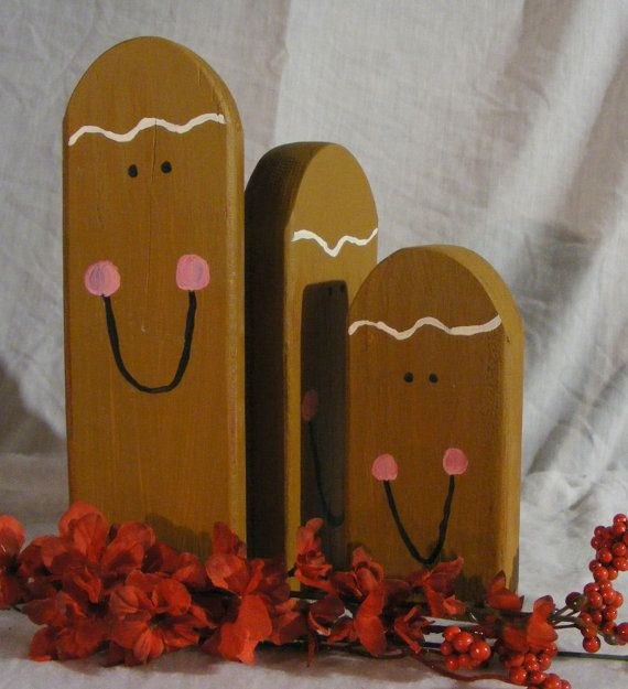 Primitive Wood Gingerbread Wooden Thing