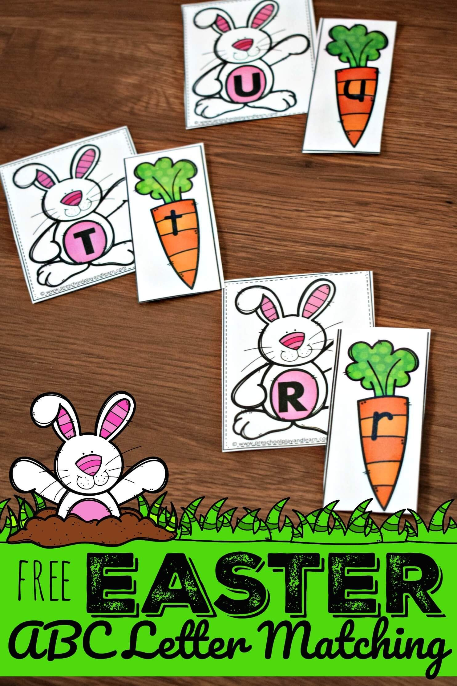 Free Easter Abc Letter Matching Activity To Help Preschool