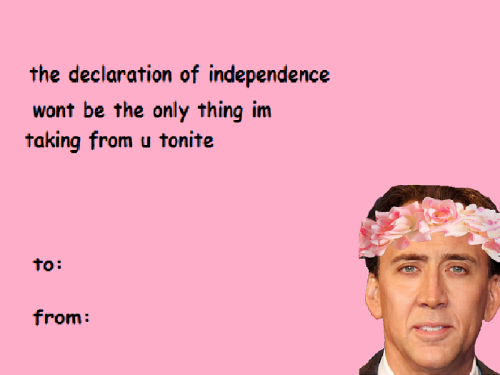 I\'m handing this out at school on Valentine day | Nicolas Cage\'s ...