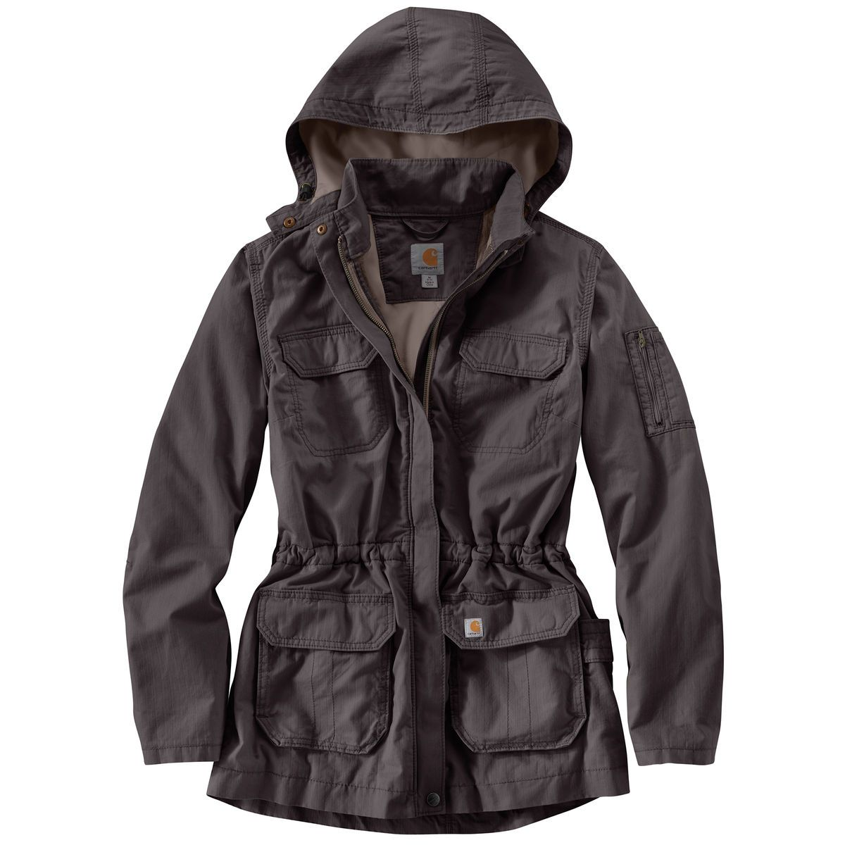 Gander Mountain Men's Thundercloud II Rain Jacket In Anthracite - XL. The Ultimate Terrain Men's Thunder-cold II rain Jacket keeps you dry and comfortable even in a downpour. The lightweight full nylon ripstop shell is treated with a DWR finish to help keep moisture a bay.