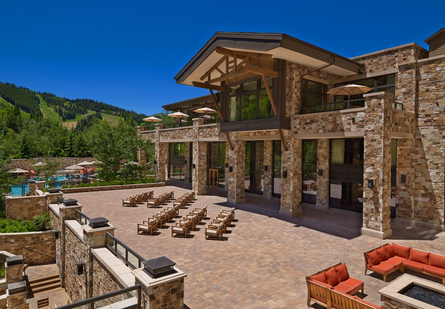 The Astor Terrace and Firepit at The St. Regis Deer Valley ...